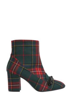 N°21 N.21 Check Printed Ankle Boots