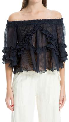 Max Studio Linen And Cotton Top