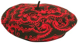 Etro Embroidered Wool Beret Hat