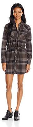 Element Juniors Boulevard Long Sleeve Flannel Plaid Dress $15.16 thestylecure.com