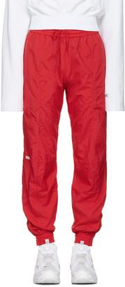 Vetements Red Reebok Edition Biker Track Pants $860 thestylecure.com