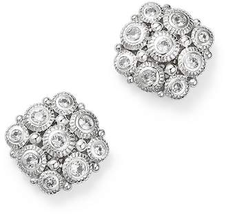 Judith Ripka Sterling Silver Snowflake Stud Earrings with White Sapphire $325 thestylecure.com