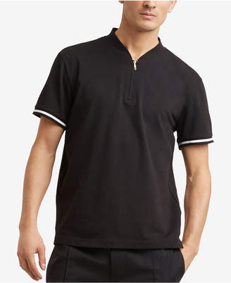 Kenneth Cole Reaction Men's Quarter Zip Mock-Collar T-Shirt