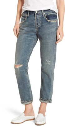 Women's Citizens Of Humanity Emerson Ripped Slim Boyfriend Jeans $248 thestylecure.com