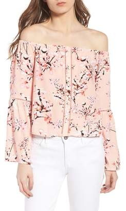 Cupcakes And Cashmere Berney Floral Print Off the Shoulder Top