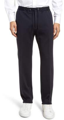 BOSS Banks Flat Front Trim Fit Wool Blend Trousers