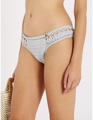 She Made Me Jaya crocheted low-rise bikini bottoms