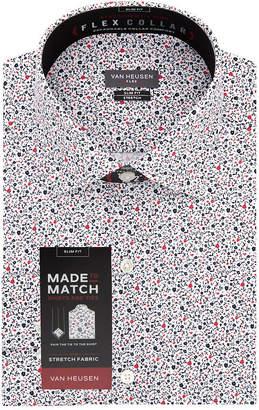 Van Heusen Made To Match Long Sleeve Twill Floral Dress Shirt - Slim