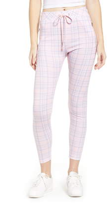 Wildfox Couture Pastel Plaid Drawstring Pants