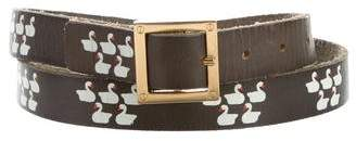 Tory Burch Leather Printed Belt
