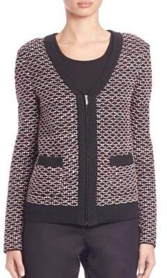 St. John Rib-Trimmed Knit Jacket