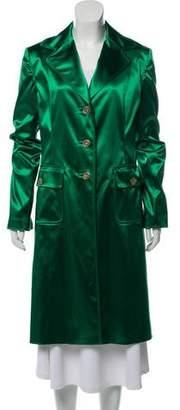 Dolce & Gabbana Satin Long Coat w/ Tags