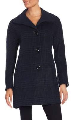 Ellen Tracy Plaid Wool-Blend Jacket