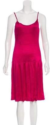 Saint Laurent Sleeveless Plissé Dress