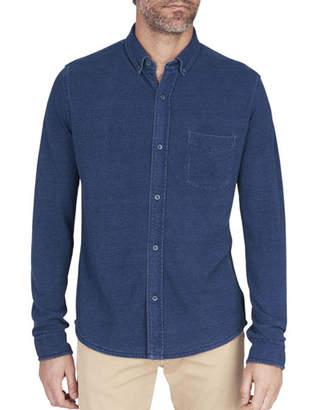 Faherty Men's Indigo-Knit Pacific Sport Shirt