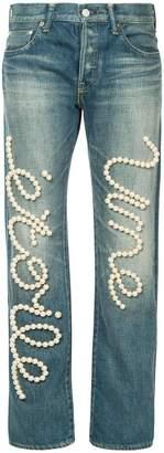 Tu Es Mon Trésor Une Étoile jeans short length