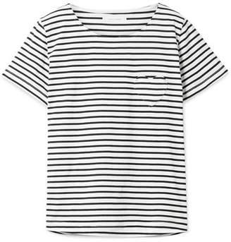 Chinti and Parker Striped Organic Cotton-jersey T-shirt - Navy