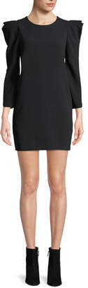 A.L.C. Fiona Long-Sleeve Crepe Shift Dress