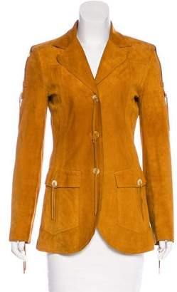 Dolce & Gabbana Suede Short Coat