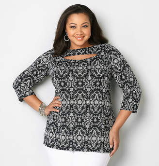Avenue Medallion Peek-A-Boo Top
