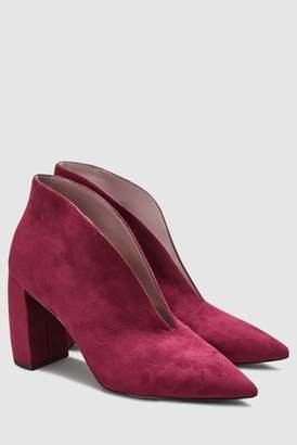 Next Womens Grey Banana Heel Shoe Boots