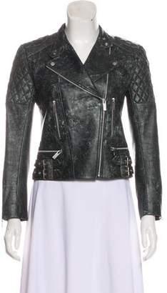 Christopher Kane Belted Leather Jacket