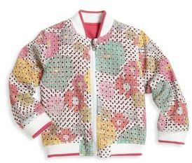 Little Girl's & Girl's Reversible Bomber Jacket $129 thestylecure.com