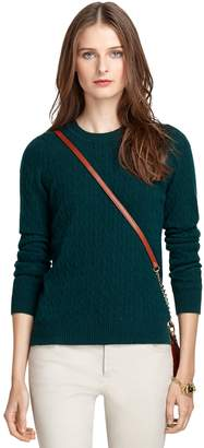 Brooks Brothers Crewneck Cable Knit Cashmere Sweater
