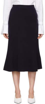 Joseph Navy Flared Skirt