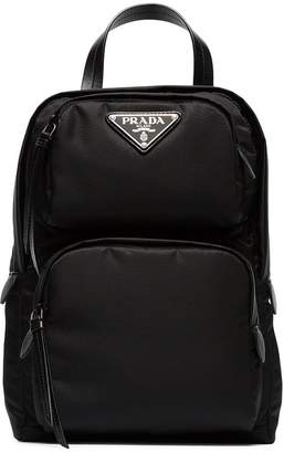 Prada black one-shoulder nylon backpack