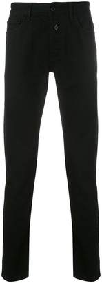 Marcelo Burlon County of Milan straight leg jeans with patches