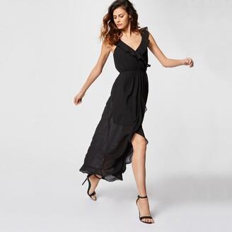 ff5690482abb4 Morgan Rvola Ruffled Maxi Dress with Narrow Straps