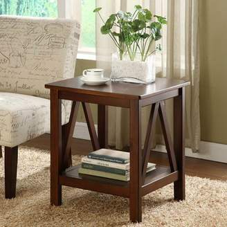 Three Posts Brassiewood End Table