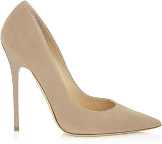 Jimmy Choo ANOUK Nude Suede Pointy Toe Pumps