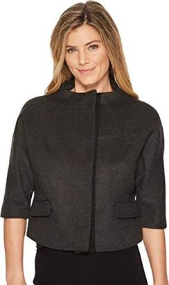 Anne Klein Women's Funnel Neck Cropped Jacket