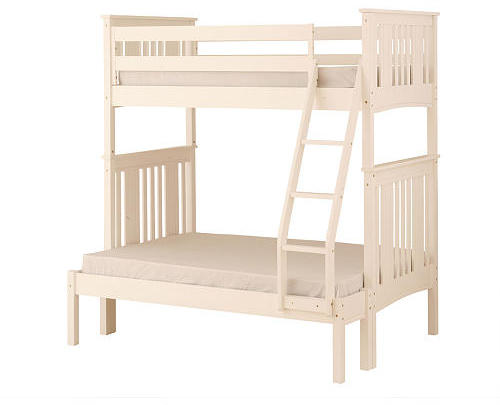 Canwood Base Camp Twin over Full Bunk Bed with Ladder/Guard Rail - White