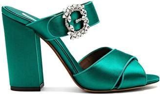 COM Tabitha Simmons Reyner satin block heel sandals