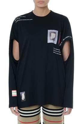 Burberry Black Cotton Long Sleeves T-shirt