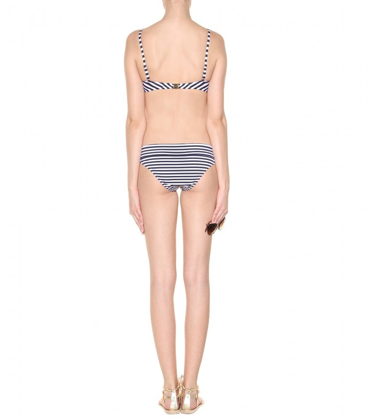 Heidi Klein Sete striped balcony bikini