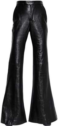 Ellery Flared Nappa Leather & Wool Pants