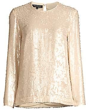Lafayette 148 New York Women's Bonnie Iridescent Sequin Top