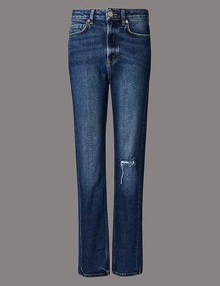 Marks and Spencer High Waist Ankle Straight Jeans