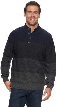 Haggar Men's Regular-Fit 7GG Colorblock Marled Mockneck Sweater