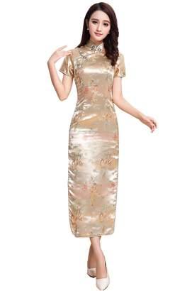 story. Shanghai Short Sleeve Long Qipao Chinese Cheongsam Dress 6