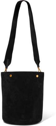 Marni Suede Bucket Bag - Black