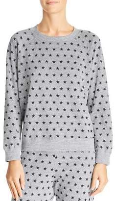Monrow Star Print Sweatshirt