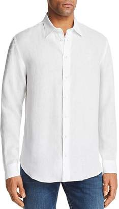 Emporio Armani Solid Regular Fit Button-Down Shirt