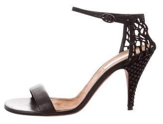 Nina Ricci Embellished Leather Sandals