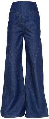 Esteban Cortazar Flared Cotton Denim Jeans