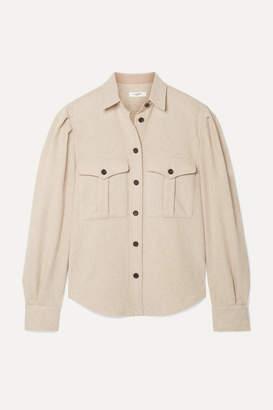 Etoile Isabel Marant Florrie Wool-blend Shirt - Beige